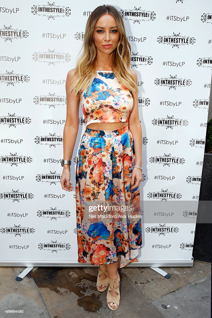 Lauren Pope arrives at the Sanctum Soho Hotel for the 'In The Style' Rooftop Party on April 14 2015 in London England