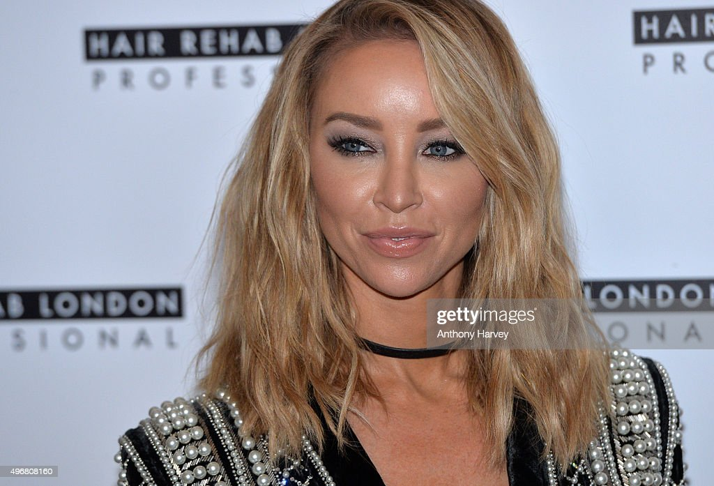 Lauren Pope attends a photocall to launch her Academy for Hair Rehab London at Sanctum Soho on November 12 2015 in London England