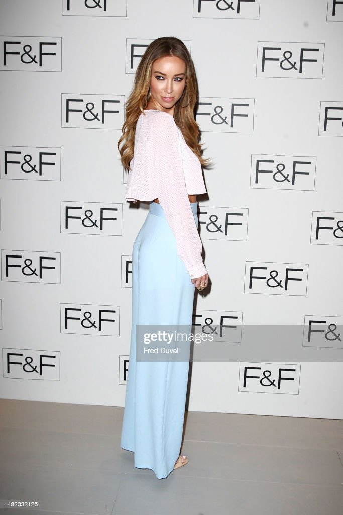 <a gi-track='captionPersonalityLinkClicked' href=/galleries/search?phrase=Lauren+Pope&family=editorial&specificpeople=217525 ng-click='$event.stopPropagation()'>Lauren Pope</a> attends the F&F aw14 Fashion show at Somerset House on April 3, 2014 in London, England.