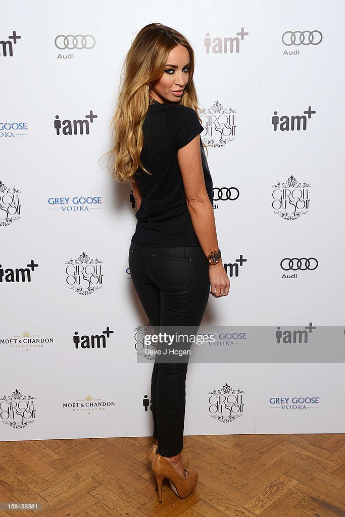 Lauren Pope attends the I.AM+ foto.sosho Launch Party in association with Cirque Du Soir at One Marylebone on December 16, 2012 in London, England.