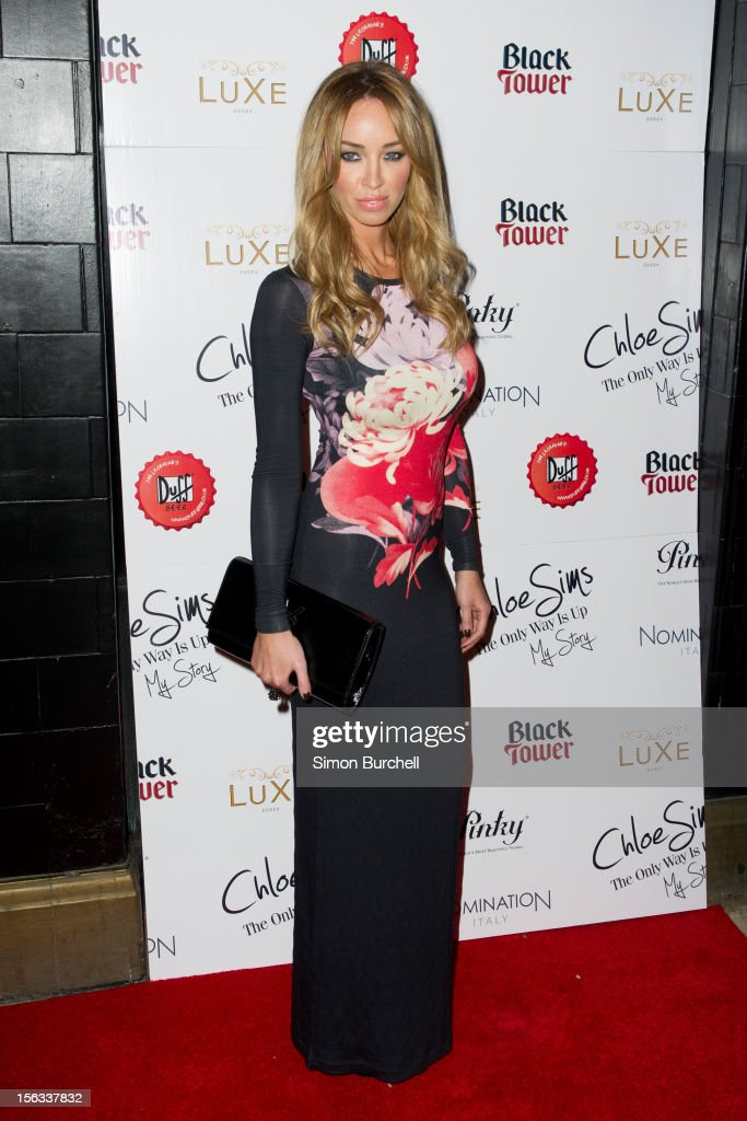 Lauren Pope attends the launch of Chloe Sims book 'Chloe Sims: The Only Way Is Up' at Luxe Nightclub on November 13, 2012 in Loughton, Essex.