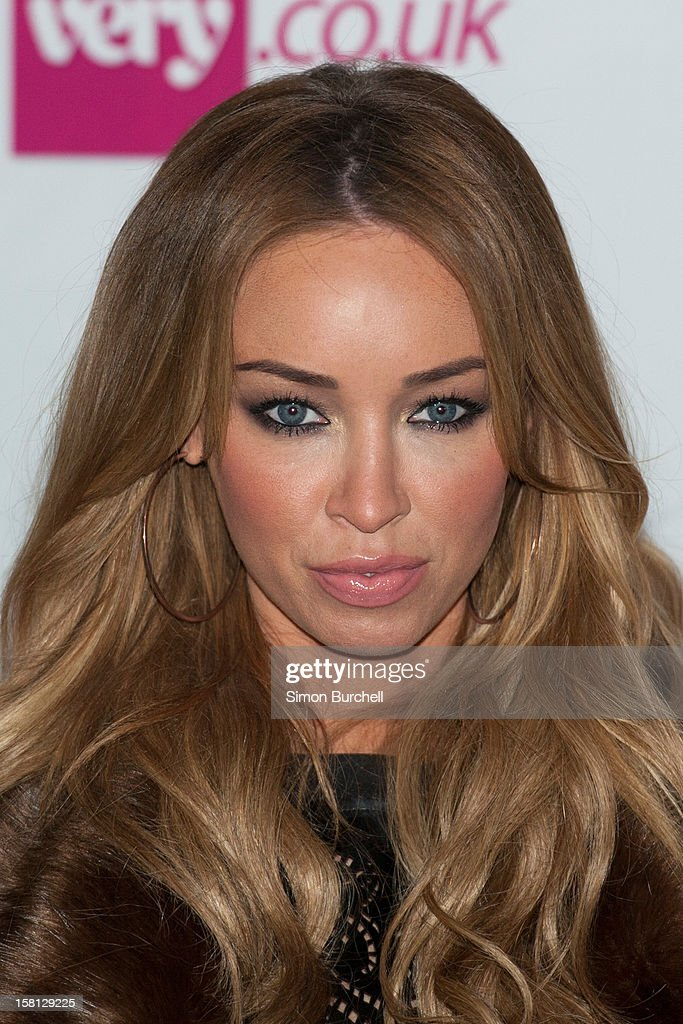 Lauren Pope attends the Very.co.uk Christmas catwalk on ice show at Tower of London on December 10, 2012 in London, England.