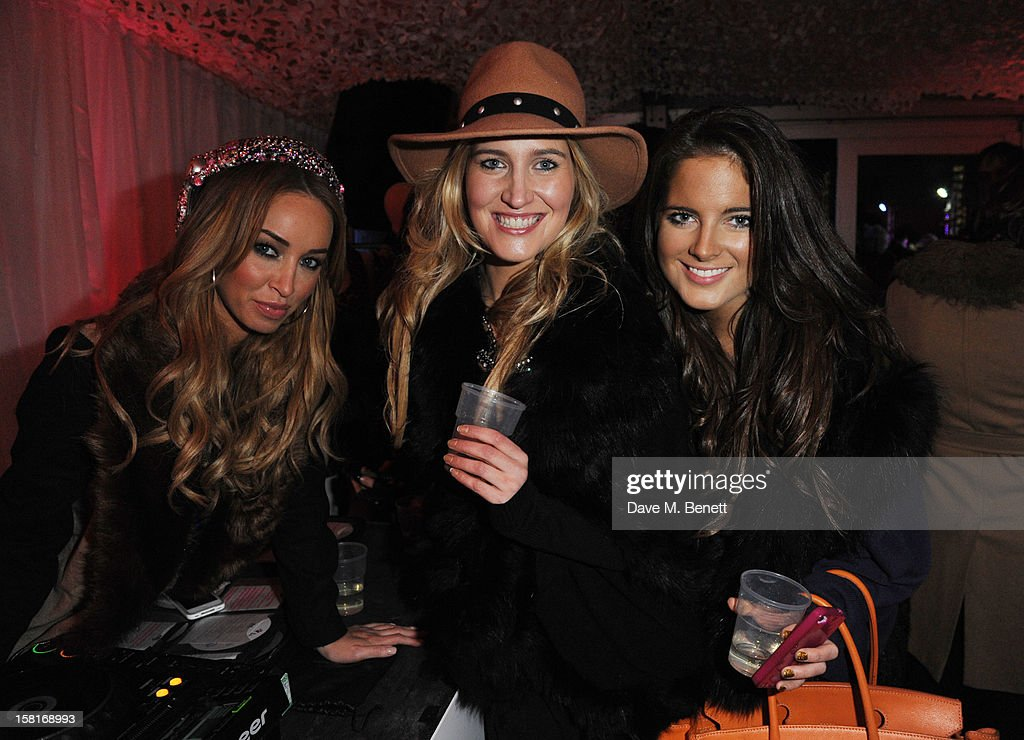 Lauren Pope, Cheska Hull and Binkie Feldstead attend The UK's first Catwalk on Ice from Very.co.uk, held at the Tower of London Ice Rink, gave shoppers a more entertaining way to shop their Christmas outfits this season at Tower of London on December 10, 2012 in London, England.