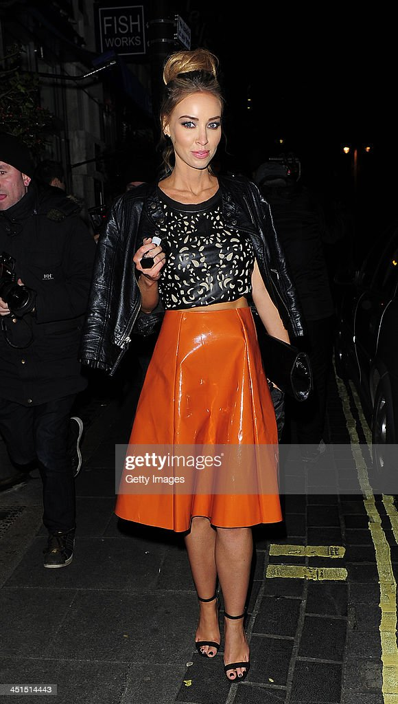 Lauren Pope DJ's at the launch of 9 Swallow Street>> on November 22 2013 in London United Kingdom