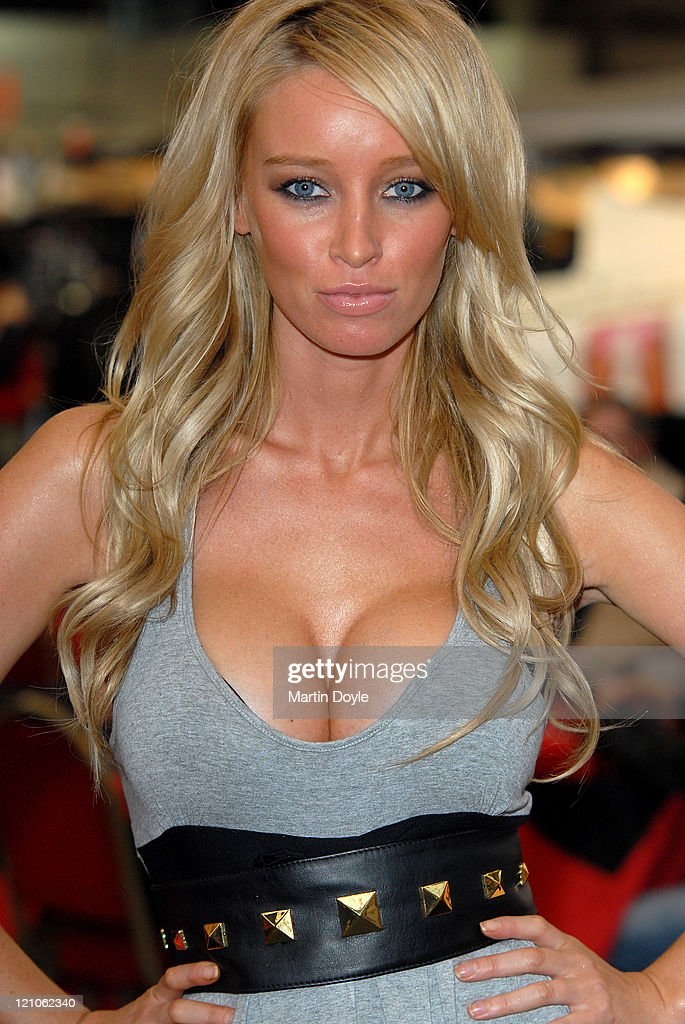 Lauren Pope during a photocall for Erotica 2007 at Olympia Exhibition Centre on November 23 2007 in London England