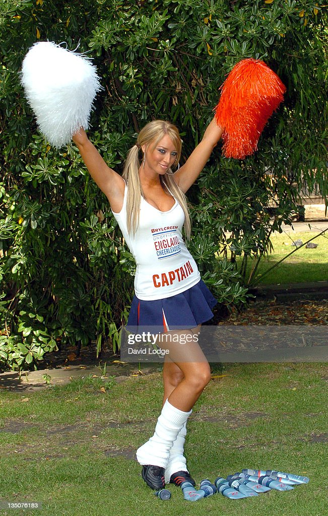 Lauren Pope during Brylcreem Launches Search for the Unofficial England Cheerleaders Photocall at Soho Square in London Great Britain