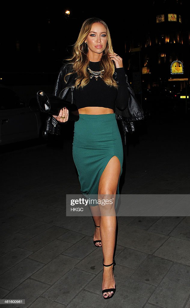 Lauren Pope leaves ME Hotel on January 9 2014 in London England