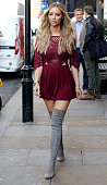 Lauren Pope seen arriving at the Sanctum Soho for a Photocall for her ITSbyLP Collection on October 2 2015 in London England Photo by Alex Huckle/GC...