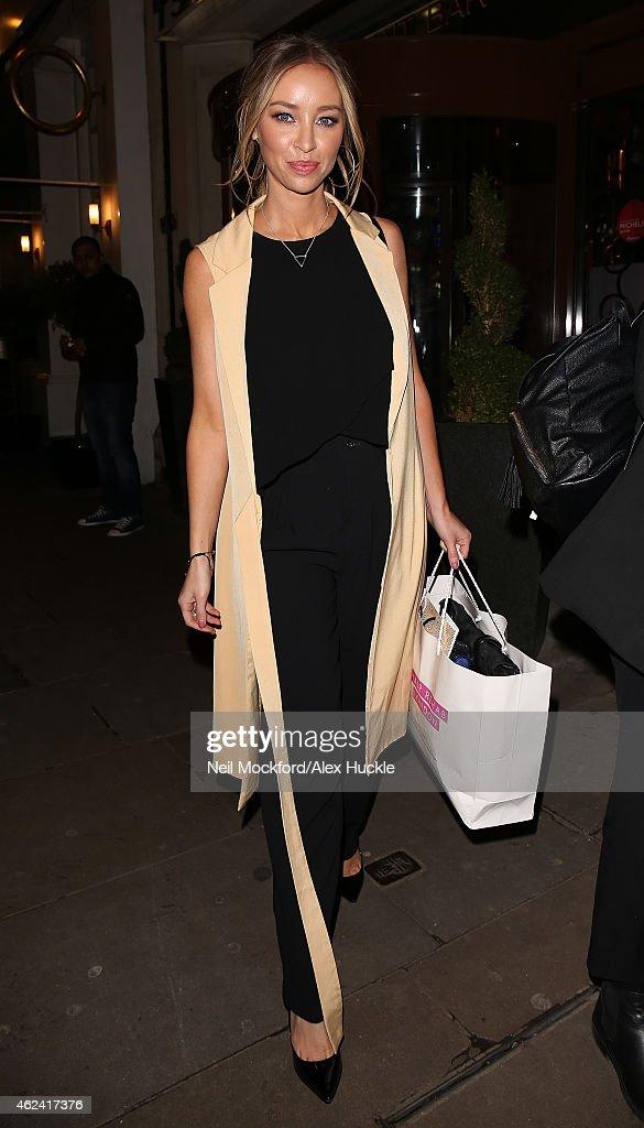 Lauren Pope seen leaving The Soho Sanctum Hotel on January 28 2015 in London England