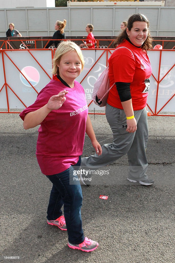 <a gi-track='captionPersonalityLinkClicked' href=/galleries/search?phrase=Lauren+Potter&family=editorial&specificpeople=7243163 ng-click='$event.stopPropagation()'>Lauren Potter</a> (L) attends the Audi Best Buddies Challenge: Washington, D.C. on October 20, 2012 in Washington, DC.