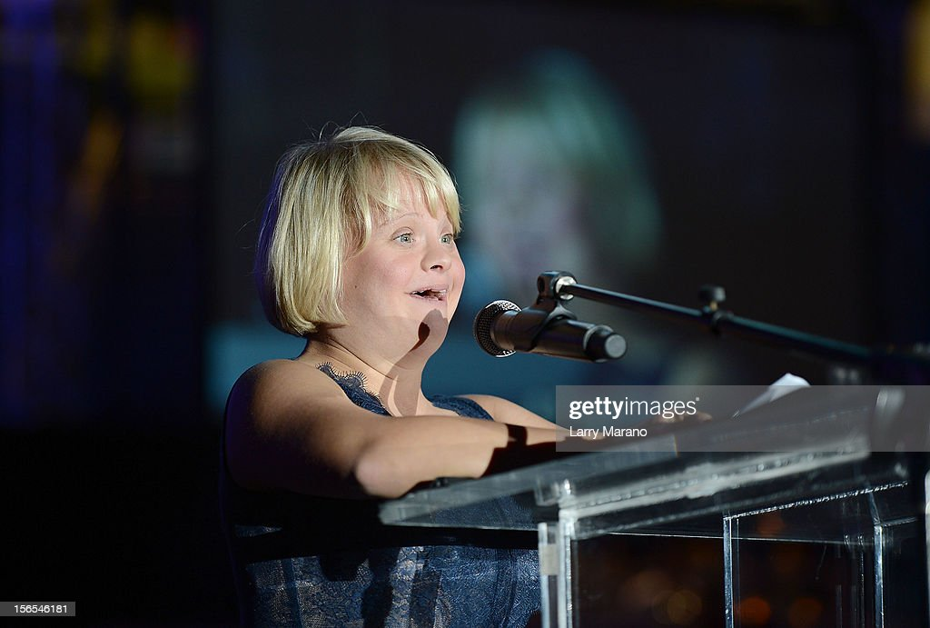 Lauren Potter attends the Zenith Watches Best Buddies Miami Gala at Marlins Park on November 16, 2012 in Miami, Florida.