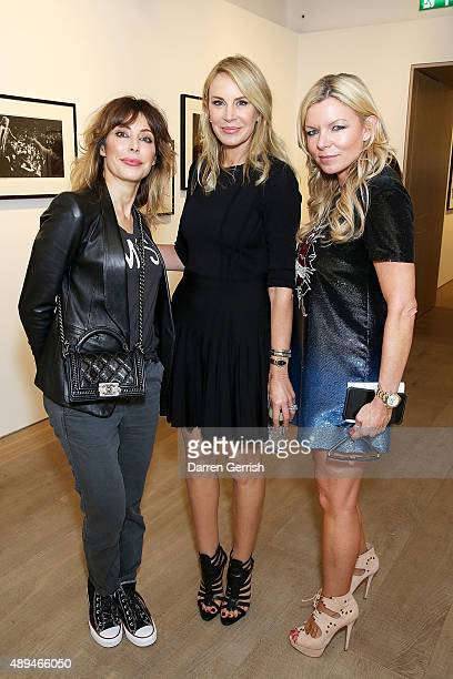 Lauren Prakke Dee Ocleppo and Fru Tholstrup attend as Tommy Hilfiger and Jeffrey Deitch present 'Rock Style' at the S2 Gallery during London Fashion...