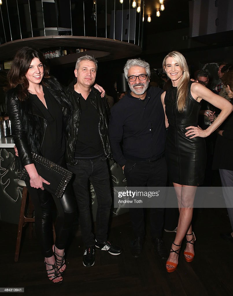 Lauren Pugh, Rudsak Co-founder Donato Coticone, Rudsak Co-founder Evik Asatoorian and Rock Paper Photo, Director of Fine Art Sales Jody Britt (wearing Rudsak) attend the FairVote Benefit hosted by Krist Novoselic and Rock Paper Photo at No.8 on April 11, 2014 in New York City.