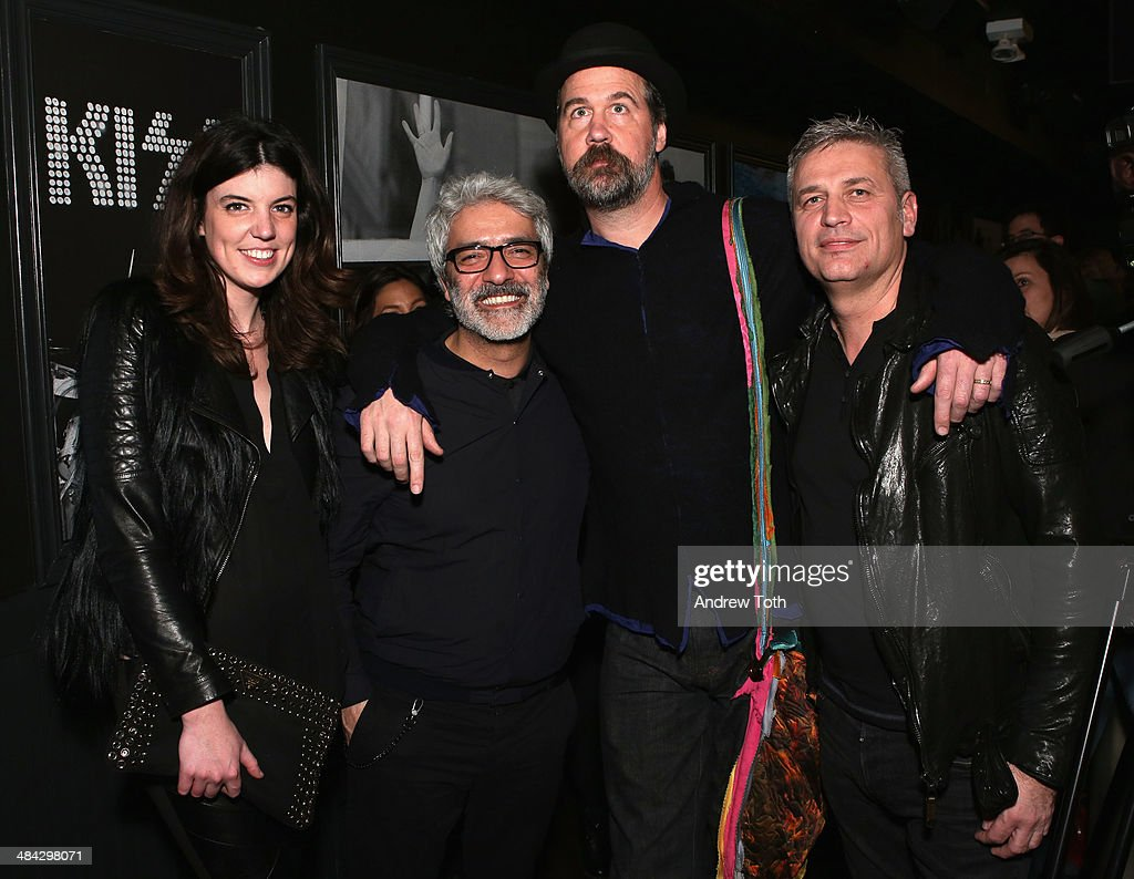 Lauren Pugh, Rudsak Co-founder Evik Asatoorian, Krist Novoselic and Rudsak Co-founder Donato Coticone attend the FairVote Benefit hosted by Krist Novoselic and Rock Paper Photo at No.8 on April 11, 2014 in New York City.