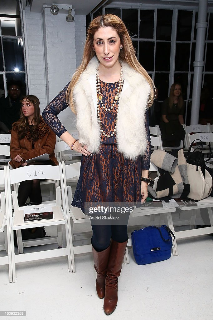 Lauren Rae Levy attends the Ivana Helsinki fall 2013 fashion show during Mercedes-Benz Fashion Week at Studio 450 on February 7, 2013 in New York City.