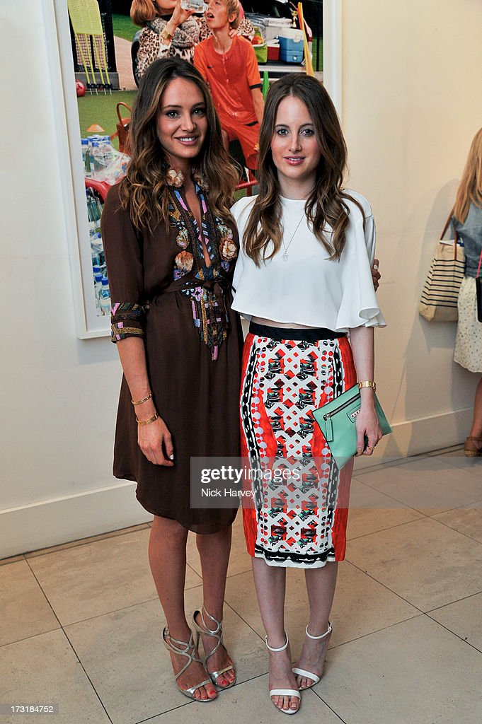 Lauren Reagan and <a gi-track='captionPersonalityLinkClicked' href=/galleries/search?phrase=Rosie+Fortescue&family=editorial&specificpeople=7851088 ng-click='$event.stopPropagation()'>Rosie Fortescue</a> attend the private view of 'Miles Aldridge: I Only Want You To Love Me' at Embankment Gallery on July 9, 2013 in London, England.