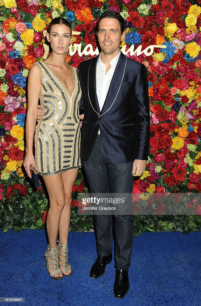 Lauren Remington Platt and James Ferragamo attend the Ferragamo Celebrates The Launch Of L'Icona Highlighting The 35th Anniversary Of Vara at The McKittrick Hotel, Home of Sleep No More on April 30, 2013 in New York City.