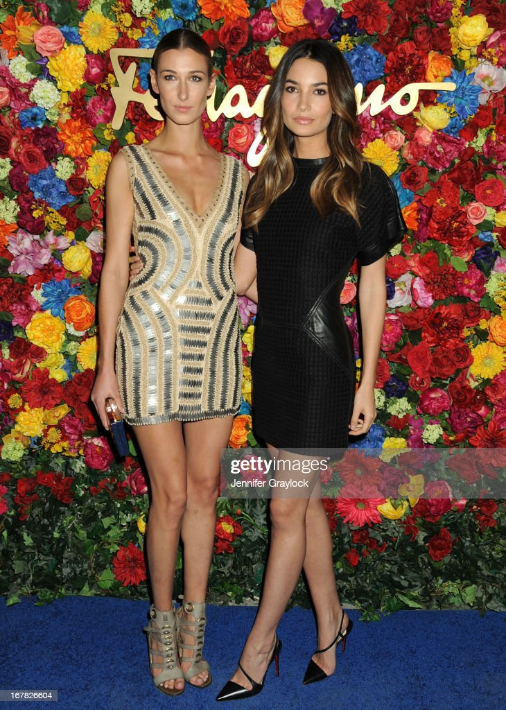 Lauren Remington Platt and Model Lily Aldridge attend the Ferragamo Celebrates The Launch Of L'Icona Highlighting The 35th Anniversary Of Vara at The McKittrick Hotel, Home of Sleep No More on April 30, 2013 in New York City.