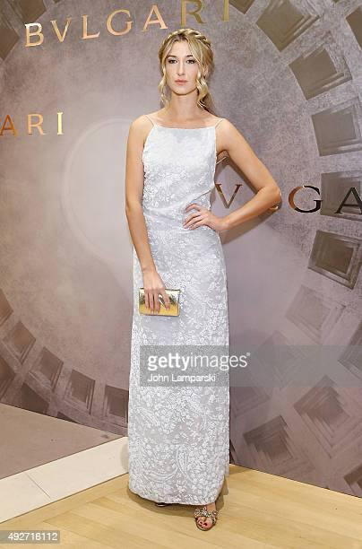 Lauren Remington Platt attends Bvlgari and Rome Eternal Inspiration opening night at Bulgari Fifth Avenue on October 14 2015 in New York City