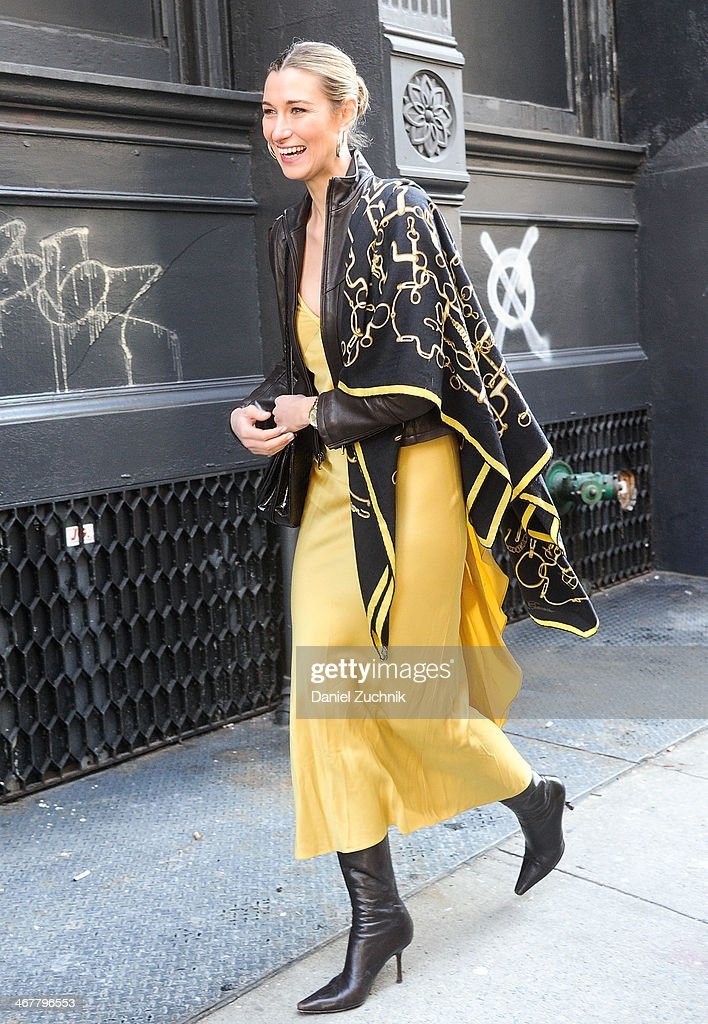 Lauren Remington Platt is seen outside the Jason Wu show on February 7, 2014 in New York City.