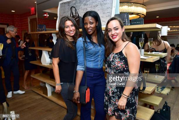 Lauren Richman Janet Temidayo and Jessie Kirchman attend the launch of The Collector Geneva's Sophie Bonvin Code Collection in Collaboration with...