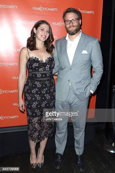Lauren Rogen and Actor Seth Rogen attends Seth and Lauren Rogen's Hilarity for Charity Comes to New York at Highline Ballroom on June 29 2016 in New...