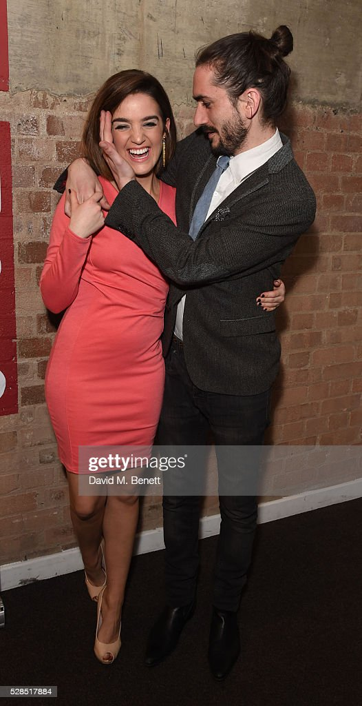 Lauren Samuels and George Maguire attend the World Premiere press night performance of 'The Buskers Opera' at The Park Theatre on May 5, 2016 in London, England.