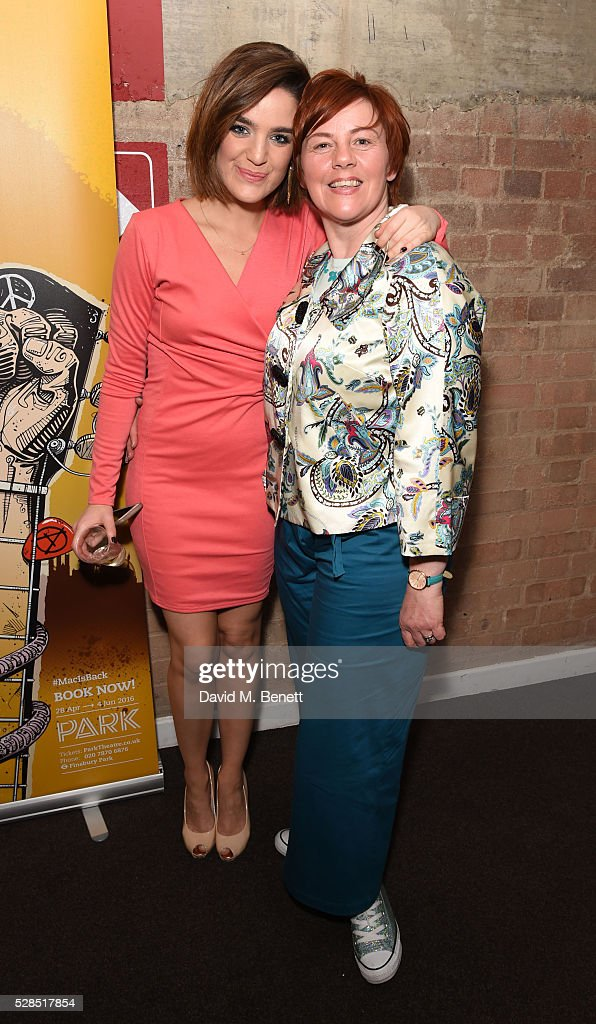 Lauren Samuels and Sophie-Louise Dann attend the World Premiere press night performance of 'The Buskers Opera' at The Park Theatre on May 5, 2016 in London, England.