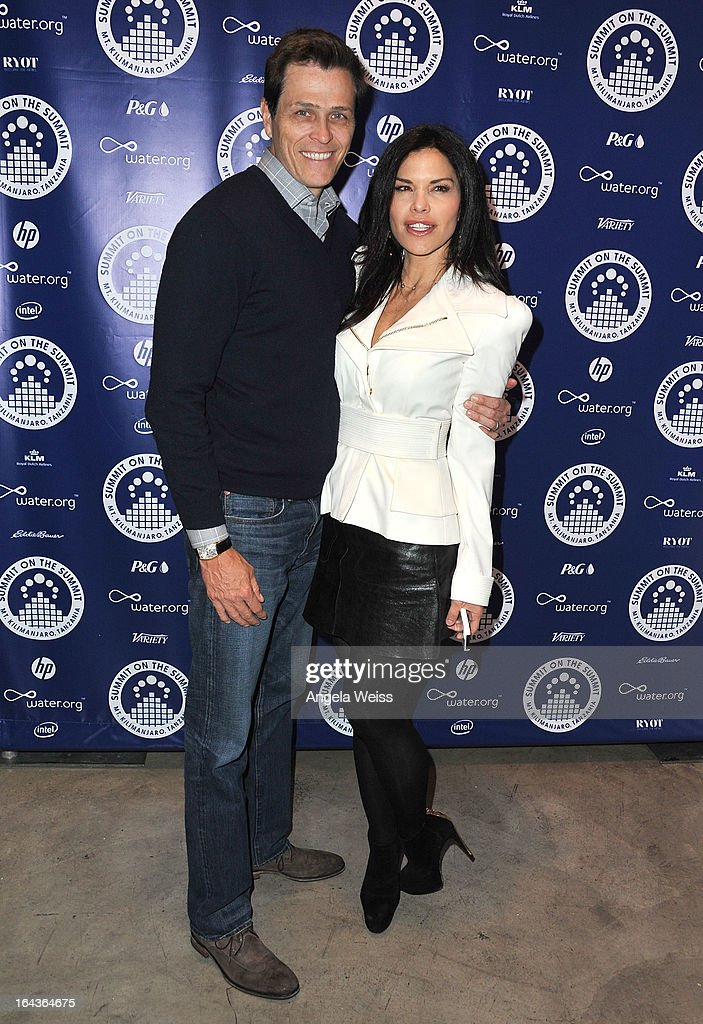 <a gi-track='captionPersonalityLinkClicked' href=/galleries/search?phrase=Lauren+Sanchez&family=editorial&specificpeople=660484 ng-click='$event.stopPropagation()'>Lauren Sanchez</a> (R) and her husband Patrick Whitesell arrive at the Summit On The Summit photo exhibition celebrating World Water Day at Siren Studios on March 22, 2013 in Hollywood, California.