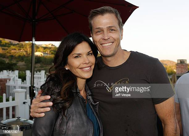 Lauren Sanchez and Patrick Whitesell attend Eddie Vedder and Zach Galifianakis Rock Malibu Fundraiser for EBMRF and Heal EB on September 15 2013 in...