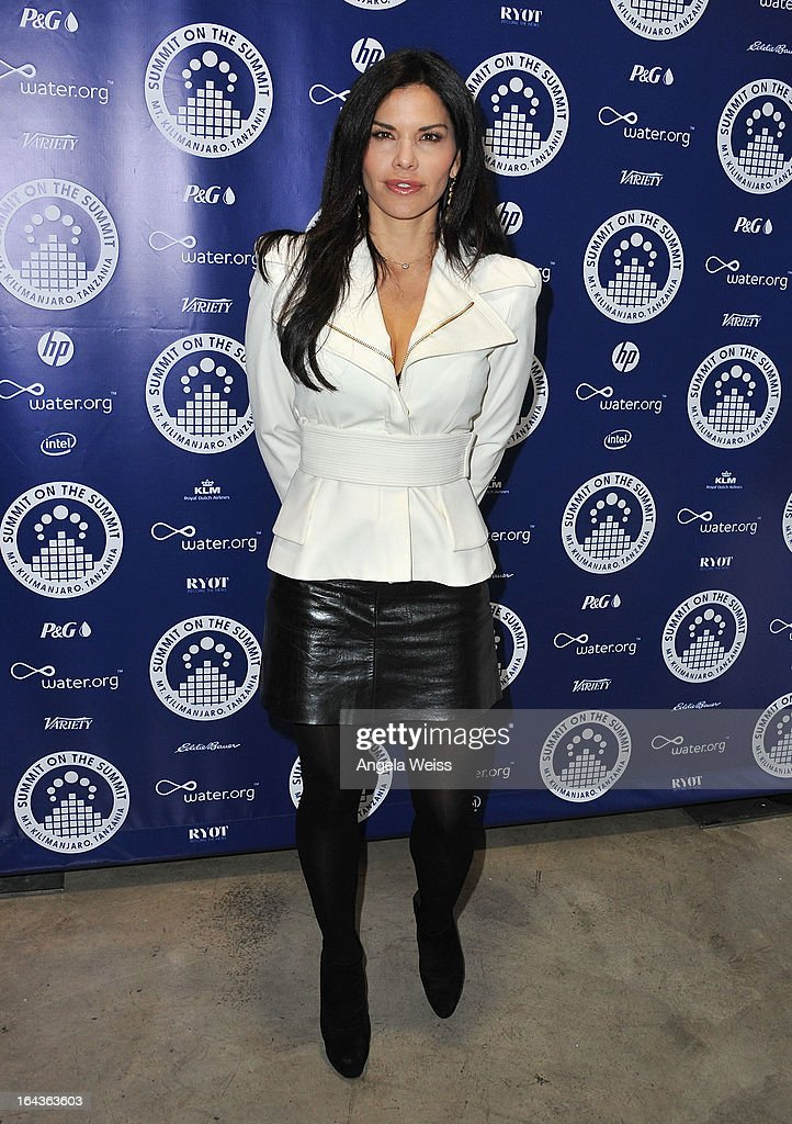 Lauren Sanchez arrives at the Summit On The Summit photo exhibition celebrating World Water Day at Siren Studios on March 22, 2013 in Hollywood, California.
