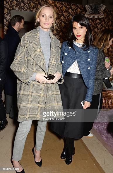 Lauren Santo Domingo and Caroline Sieber attend the Erdem show during London Fashion Week Fall/Winter 2015/16 at Old Selfridges Hotel on February 23...
