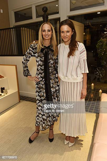 Lauren Santo Domingo and Fran Hickman attend a cocktail party to honour the 2016 Fashion Awards hosted by Natalie Massenet Lauren Santo Domingo and...