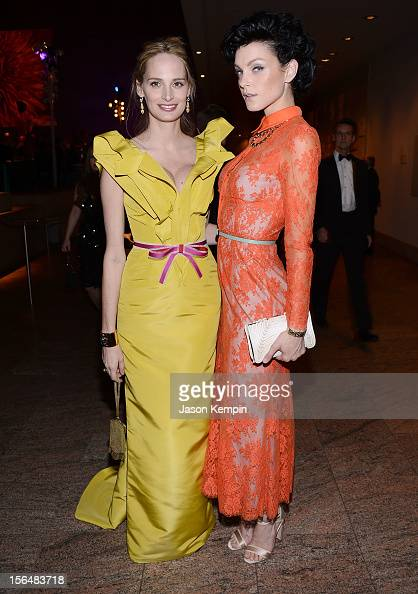 Lauren Santo Domingo and Jessica Stam attend the 2012 Apollo Circle Benefit at the Metropolitan Museum of Art on November 15 2012 in New York City