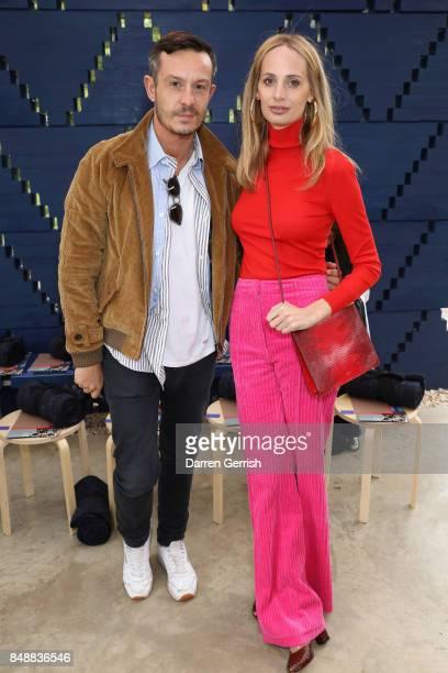 Lauren Santo Domingo and Jonathan Saunders attend the Roksanda show during London Fashion Week September 2017 on September 18 2017 in London England