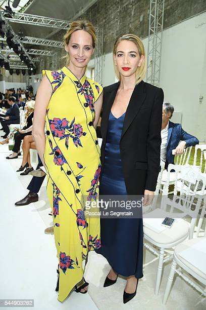 Lauren Santo Domingo and Sabine Getty attend the Giambattista Valli Haute Couture Fall/Winter 20162017 show as part of Paris Fashion Week on July 4...