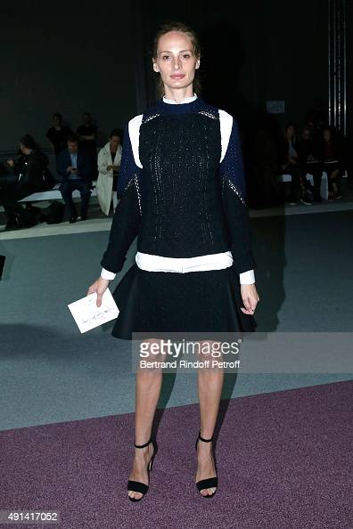 Lauren Santo Domingo attends the Giambattista Valli show as part of the Paris Fashion Week Womenswear Spring/Summer 2016 Held at Grand Palais on...