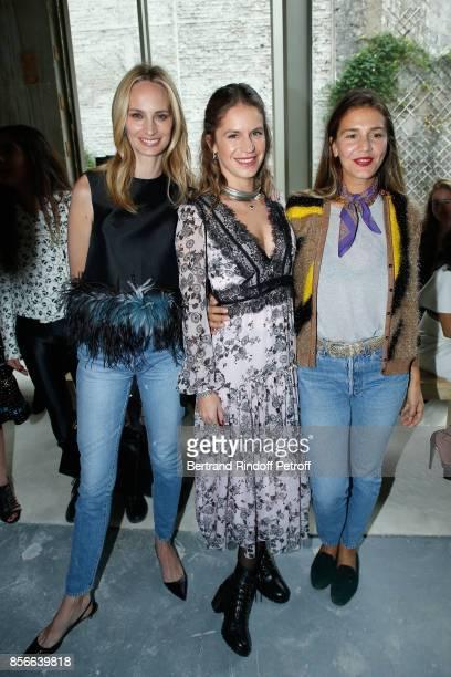 Lauren Santo Domingo Eugenie Niarchos and Margherita Missoni attend the Giambattista Valli show as part of the Paris Fashion Week Womenswear...