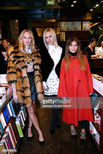 Lauren Santo Domingo Princess Elisabeth von Thurn und Taxis and Miroslava Duma attend Princess Gloria Von Thurn und Taxis signs her Book 'The House...
