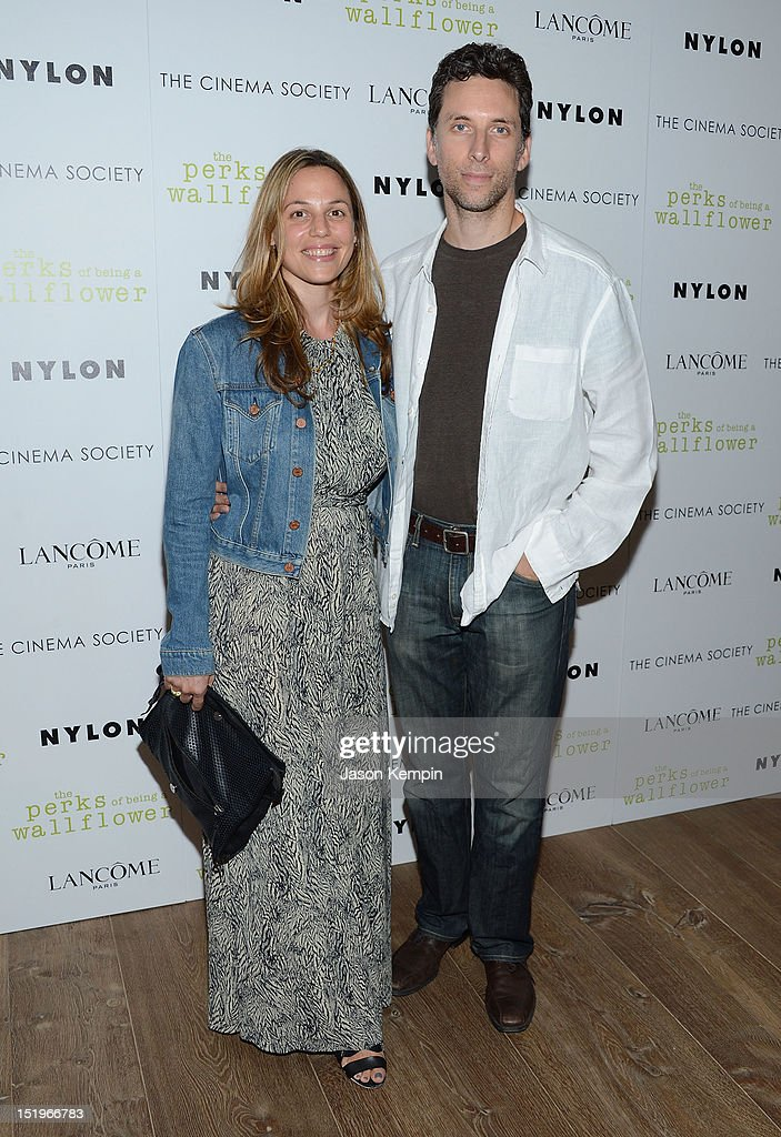 Lauren Shenkman and <a gi-track='captionPersonalityLinkClicked' href=/galleries/search?phrase=Ben+Shenkman&family=editorial&specificpeople=228771 ng-click='$event.stopPropagation()'>Ben Shenkman</a> attend The Cinema Society with Lancome & Nylon screening of 'The Perks of Being a Wallflower' at the Crosby Street Hotel on September 13, 2012 in New York City.