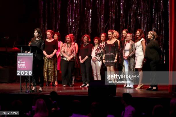 Lauren Shuler Donner speaks onstage at National Breast Cancer Coalition Fund's 17th Annual Les Girls Cabaret at Avalon Hollywood on October 15 2017...