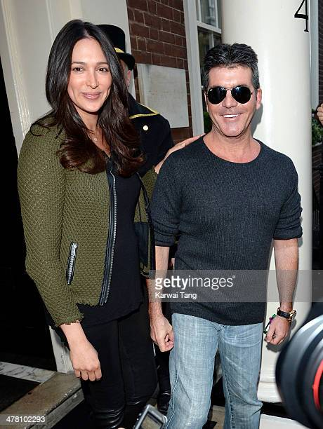 Lauren Silverman and Simon Cowell attend as Cheryl Cole announces her return to the X Factor judging panel held at the Arts Club on March 11 2014 in...