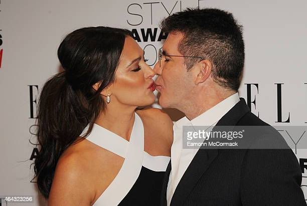 Lauren Silverman and Simon Cowell attend the Elle Style Awards 2015 at Sky Garden @ The Walkie Talkie Tower on February 24 2015 in London England