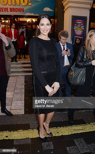 Lauren Silverman arrives at the press night performance of 'I Can't Sing The X Factor Musical' at the London Palladium on March 26 2014 in London...