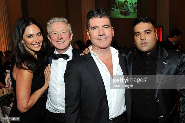 Lauren Silverman Louis Walsh Simon Cowell and DJ Naughty Boy attend the British Asian Trust dinner at Banqueting House on February 3 2015 in London...