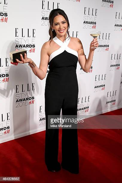 Lauren Silverman poses in the winners room during the Elle Style Awards 2015 at Sky Garden @ The Walkie Talkie Tower on February 24 2015 in London...
