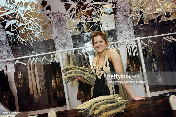 Lauren Slater assistant manager at Sass and Bide 9 May 2005 SMH Picture by NARELLE AUTIO