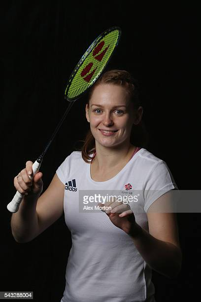 Lauren Smith of Team GB during the Announcement of Badminton Athletes Named in Team GB for the Rio 2016 Olympic Games at the National Badminton...