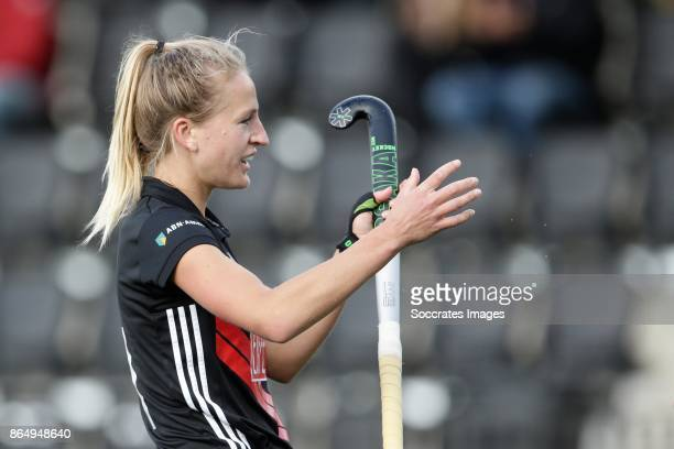 Lauren Stam of Amsterdam Dames 1 during the match between Amsterdam D1 v Groningen D1 at the Wagener Stadium on October 22 2017 in Amsterdam...