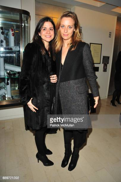Lauren Tabak Fass and Jessica Diehl attend Cocktail party at BARNEY's New York in honour of CHRISTOPHER BAILEY Creative Director of BURBERRY at...